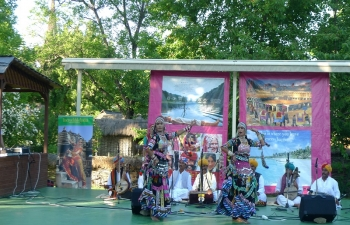 Rajastani Folk Dancers And Musicians in Village Museum,Bucharest,28 May 2014