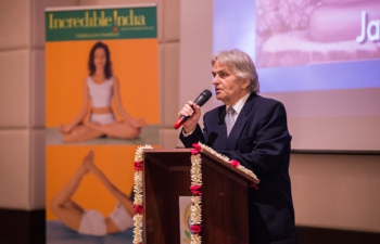 2nd International Yoga Day organised by Indian Embassy in Bucharest on 18 June 2016.