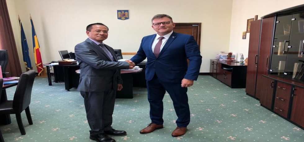 Ambassador meets Romanian Minister of Labour and Social Justice Mr. Marius-Constantin BUDAI