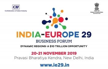 India-Europe 29 Business Forum on 20-21 November 2019 in New Delhi