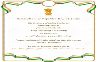 Invitation to the Flag hoisting ceremony on January 26, 2020
