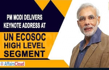 Prime Minister Shri Narendra Modi delivers keynote address at High-Level Segment of ECOSOC