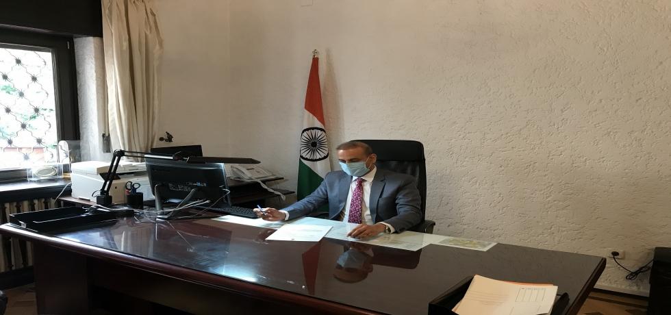 Ambassador Rahul Shrivastava assumed charge on July 13, 2020