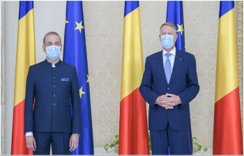 Ambassador present credentials to the President of Romania