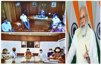 Prime Minister launches submarine cable connectivity to Andaman & Nicobar Islands