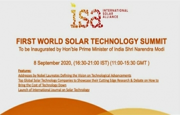 First World Solar Technology Summit (WSTS) on 8 September, 2020