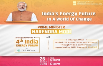 PM Shri Narendra Modi interacts with global oil and gas CEOs, and Inaugurates the India Energy Forum 2020