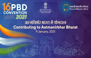 Participation in the 16th Pravasi Bhartiya Divas 2021