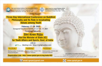 International Conference on Buddhist Philosophy and its Role in Inculcating Values among Youth